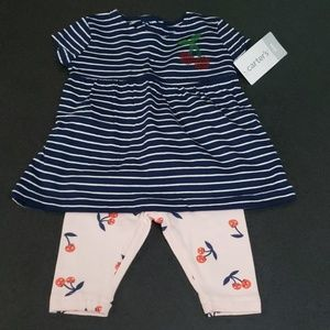 NWT Carter's Baby Girl outfit. Cherries!